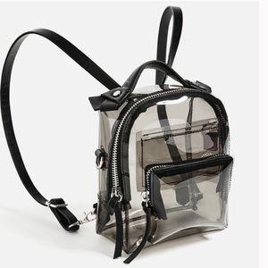 Zara smoky clear mini backpack